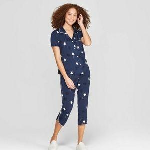 Stars Above Floral Print Pajama Set